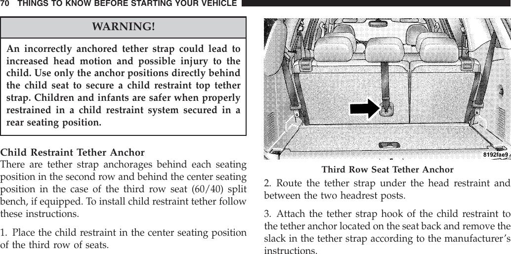 Chrysler 2007 Aspen Owners Manual on