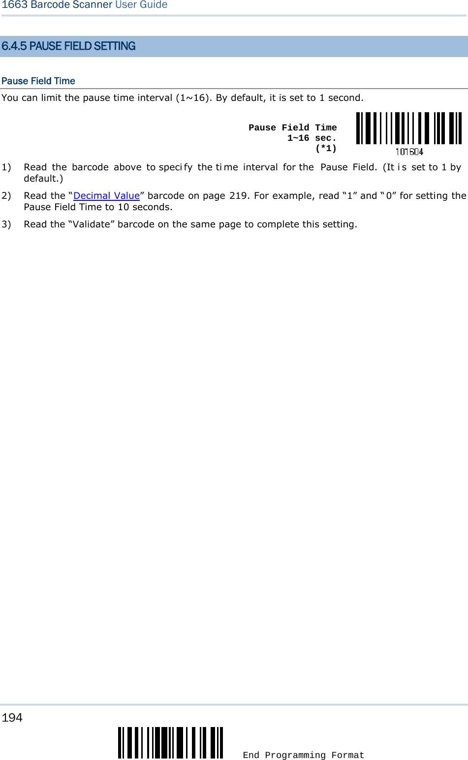 CipherLab 1663 Bluetooth Barcode Scanner User Manual 1663 Barcode