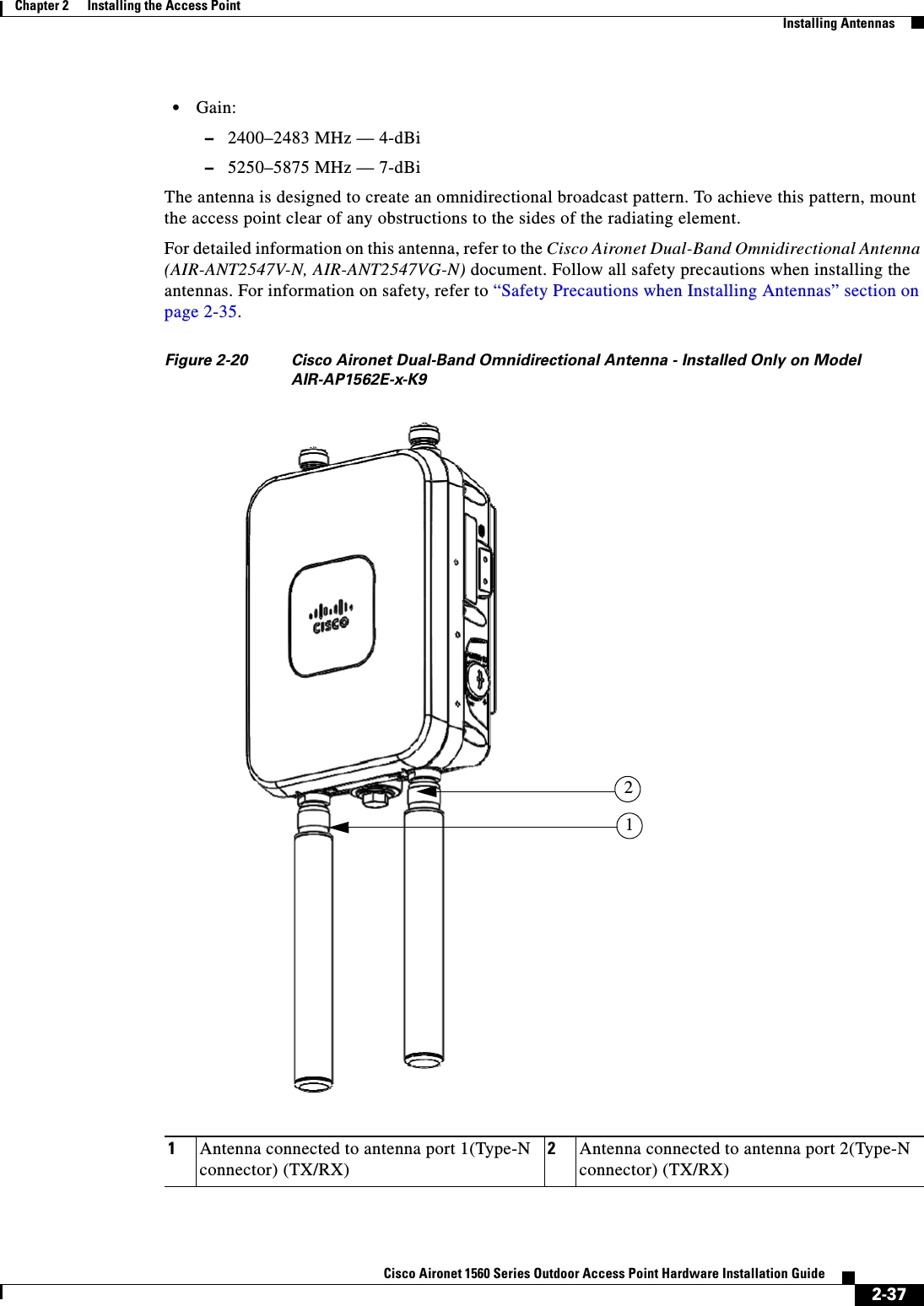 Cisco Systems 102104 Cisco Aironet 802 11ac Dual Band