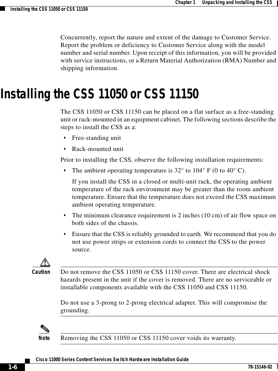 Cisco Systems 11000 Series Users Manual