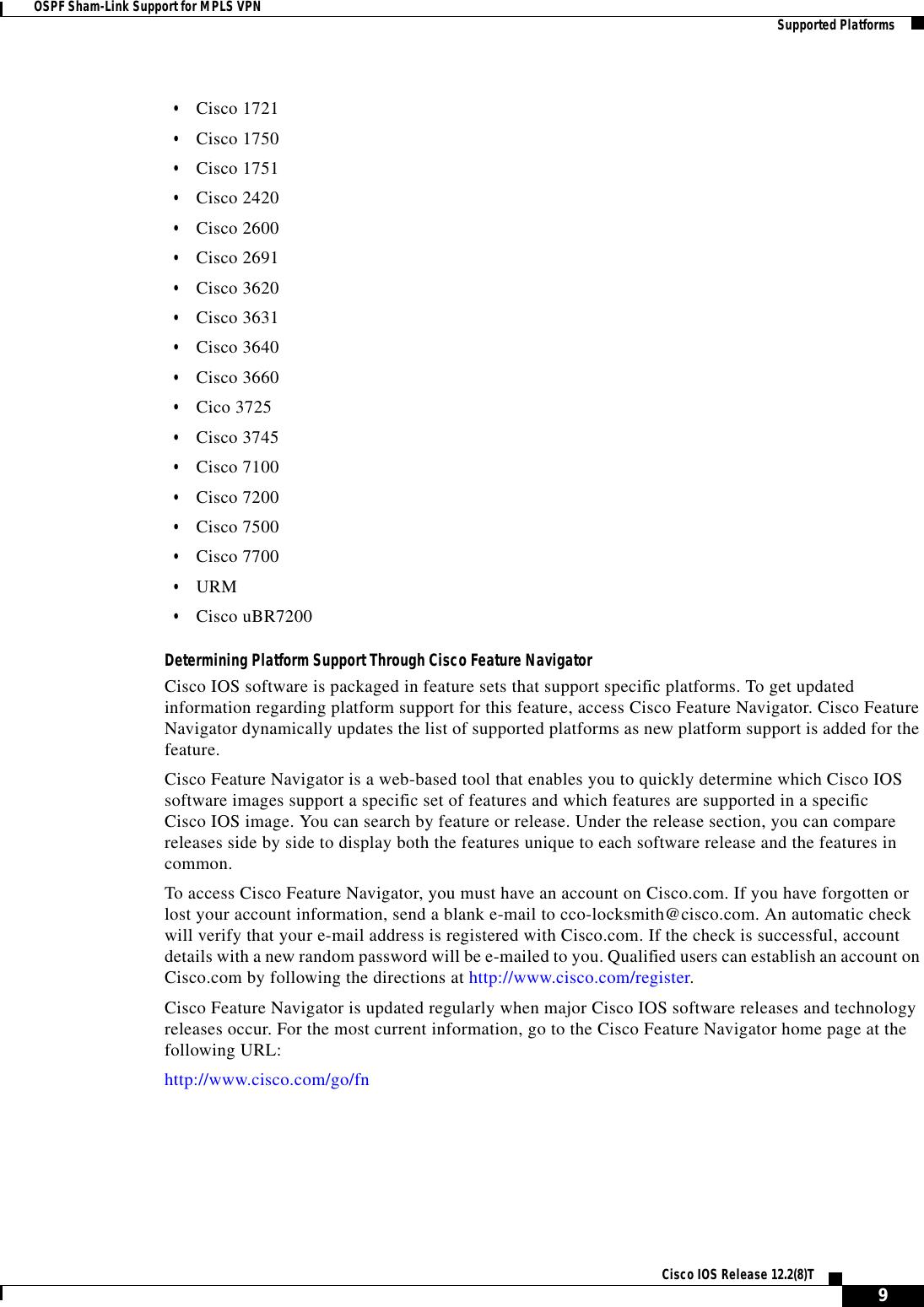 Cisco Systems 1400 Series Specification Sheet Ospfshmk