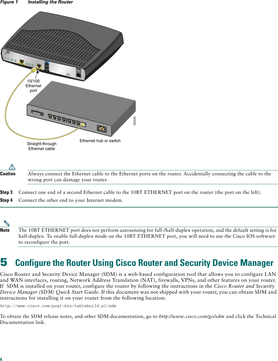 Cisco Systems 1710 Getting Started Guide 1710qsgmif Straight Through Ethernet Cable Page 4 Of 12