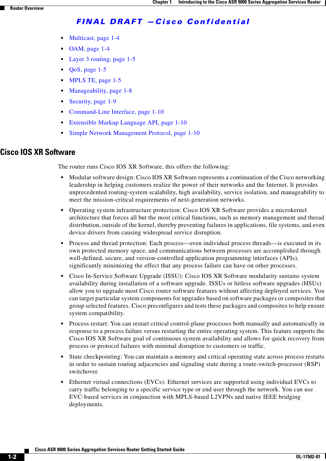 Cisco Systems A9K24X10Getr Getting Started Guide Asr9kbookb