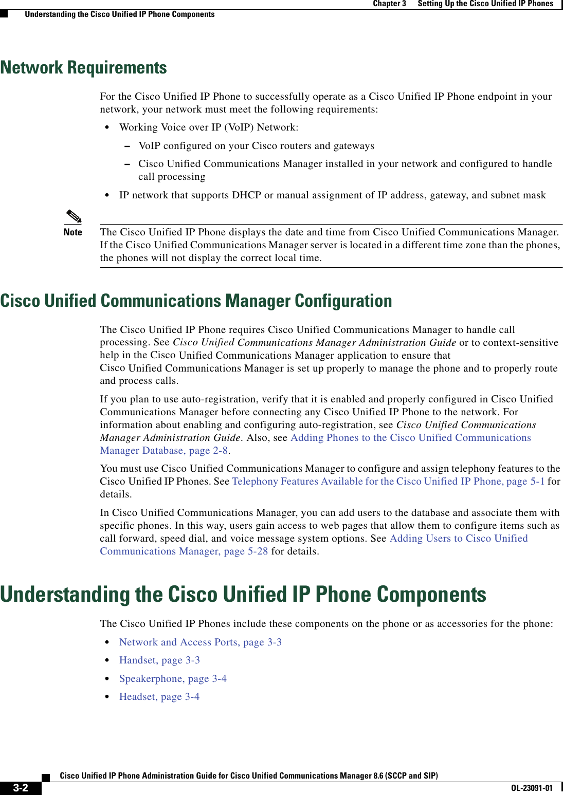 Cisco Systems Administration 8 6 Users Manual Unified IP Phone 7962G