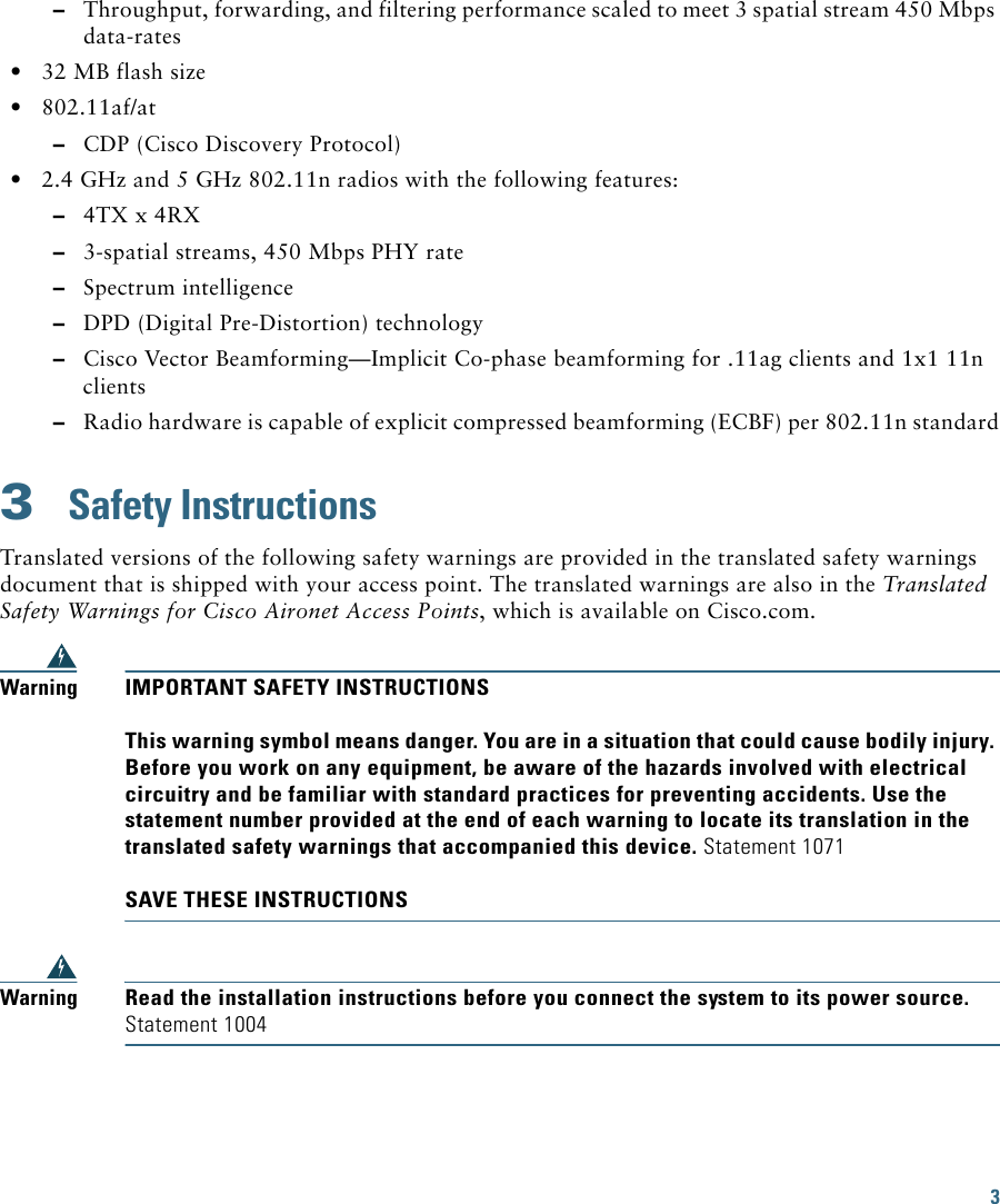 Cisco Systems Aircap3602Eak9 Users Manual Ap3600getstart