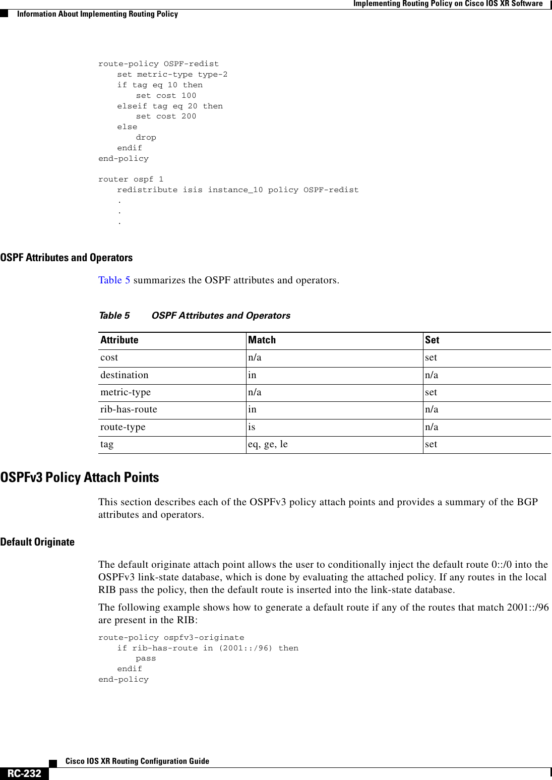 Cisco Systems Ios Xr Users Manual