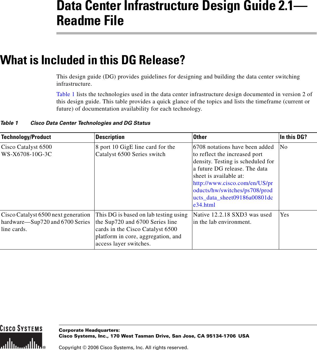 Cisco Systems Ol 11568 01 Users Manual DCReadme_bk