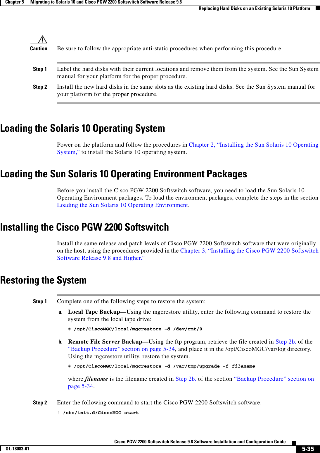 Cisco Systems Pgw 2200 Installation And Configuration Guide