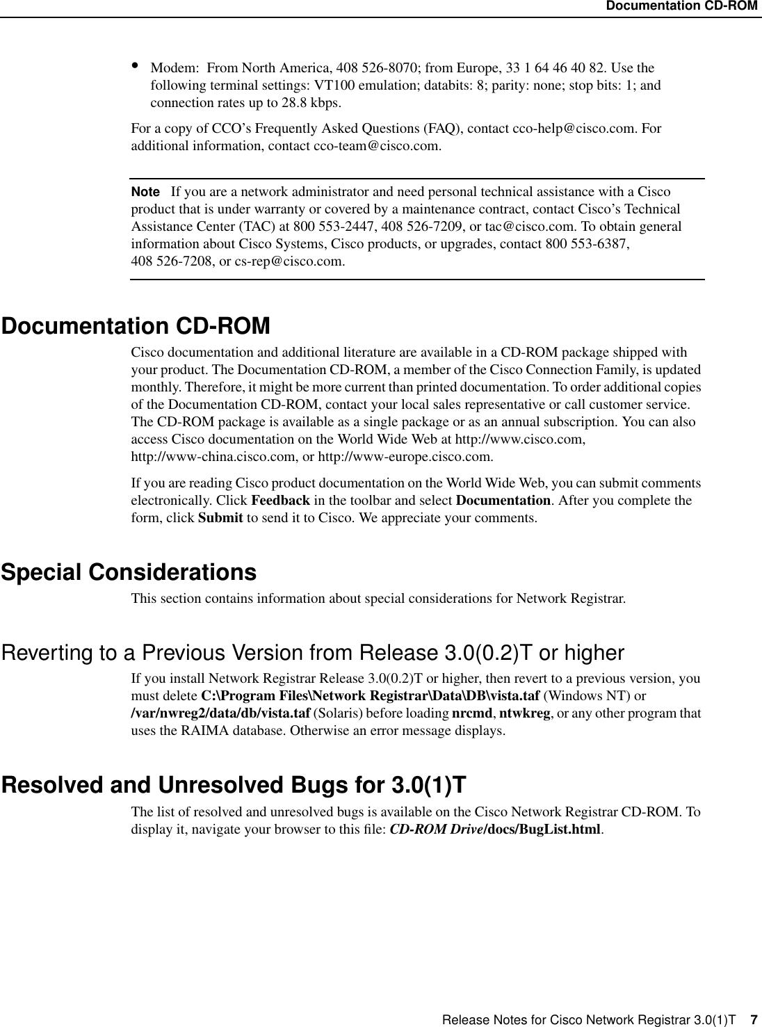 Cisco Systems Registrar 3 01 Users Manual Nrrn30t