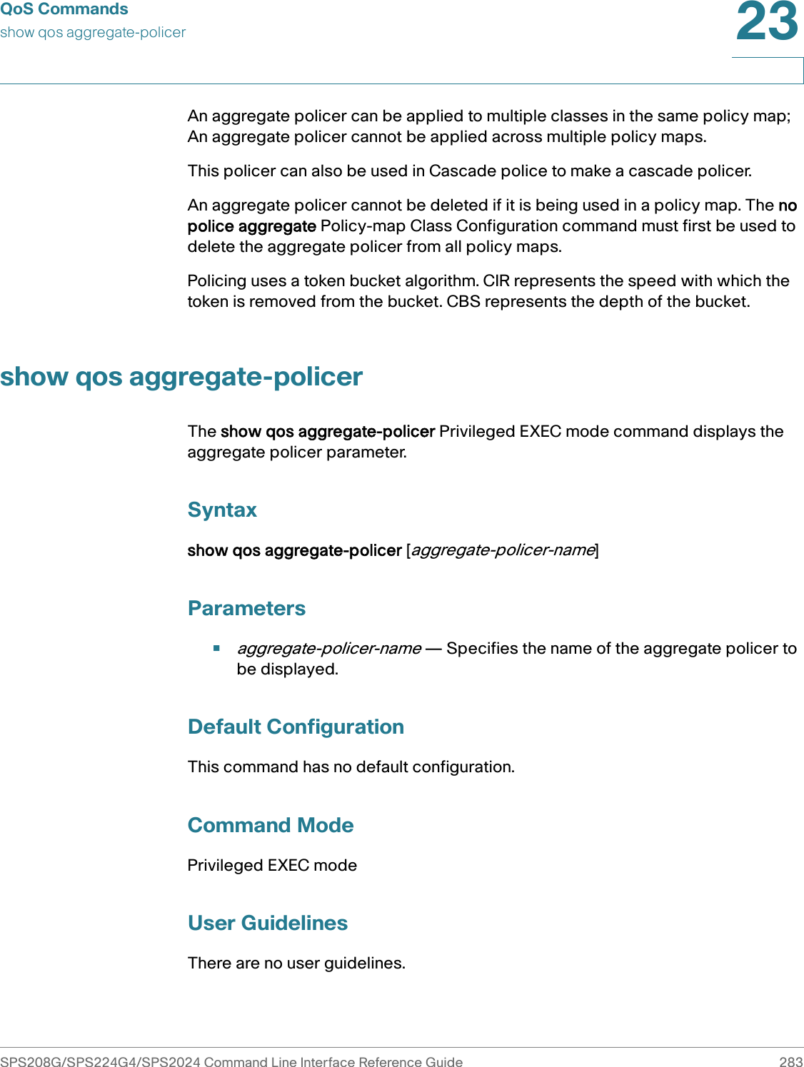 Cisco Systems Sps2024 Reference Guide SPS208G/SPS224G4