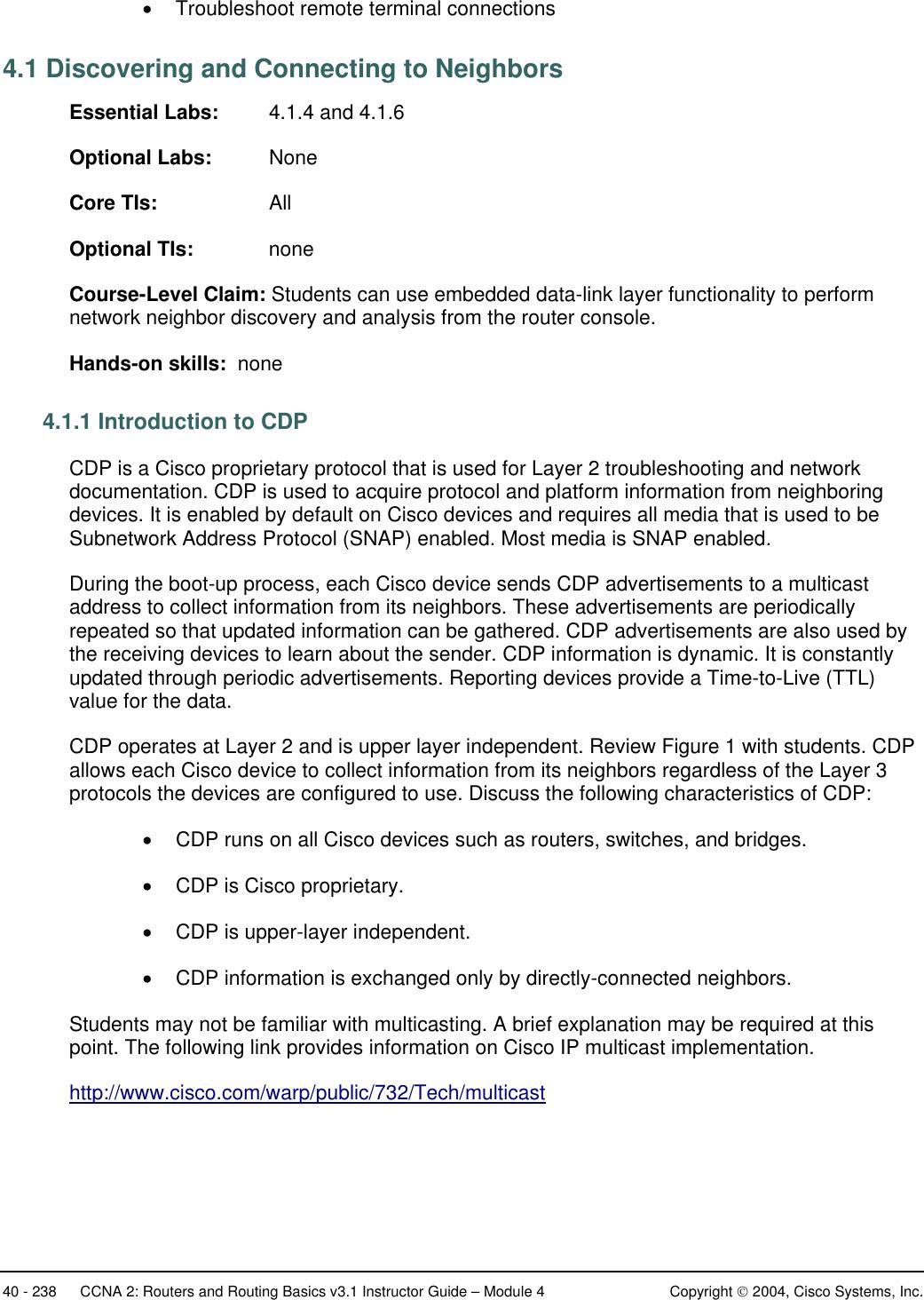 Cisco Wireless Service Module 2 Instruction Manual
