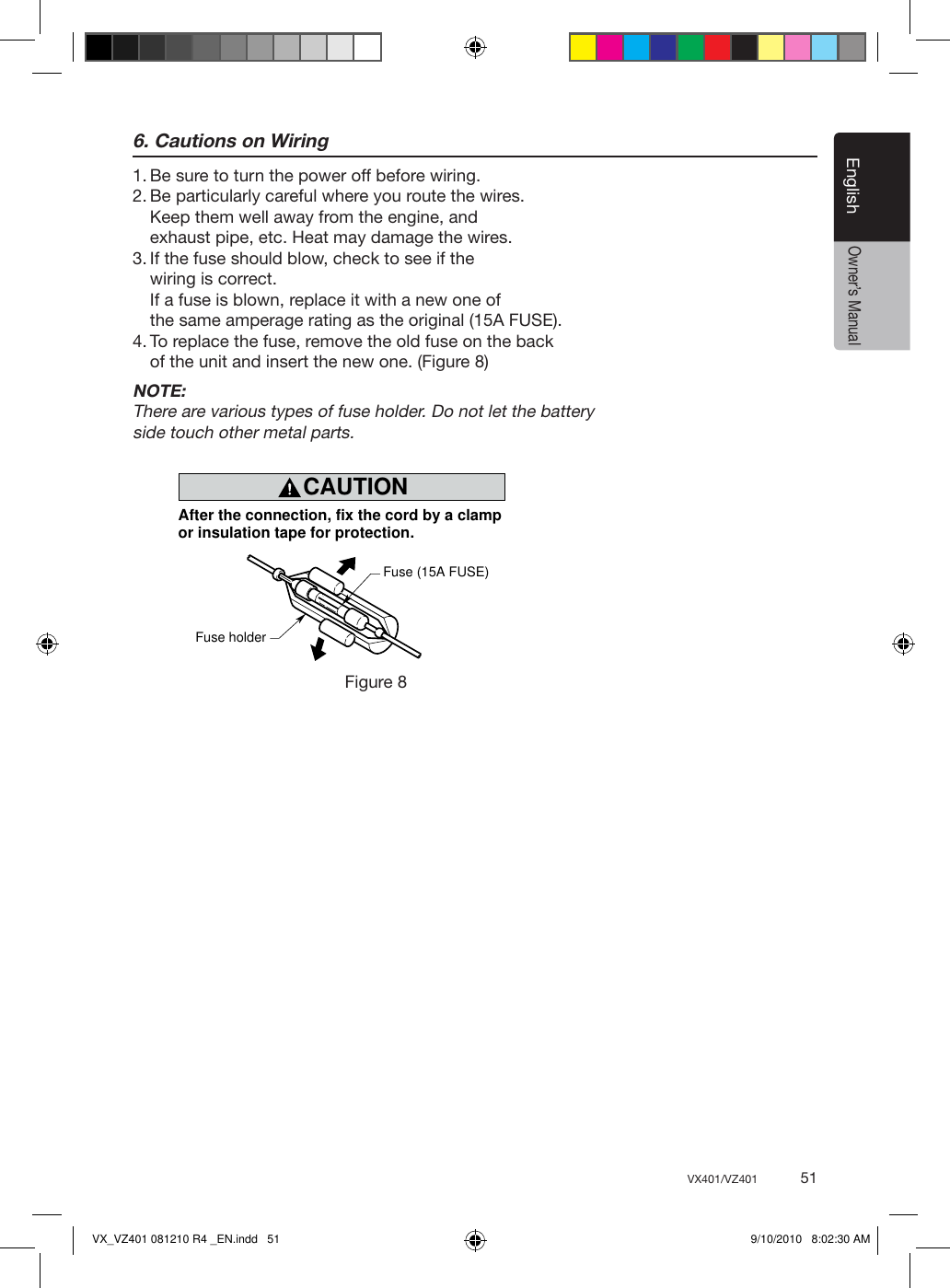 Clarion Vx401 Owners Manual