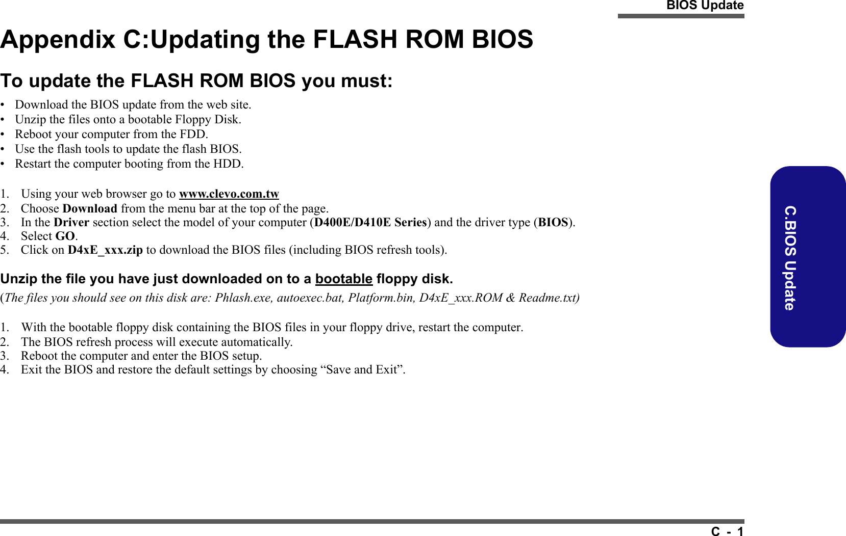 Clevo Bios Update Download