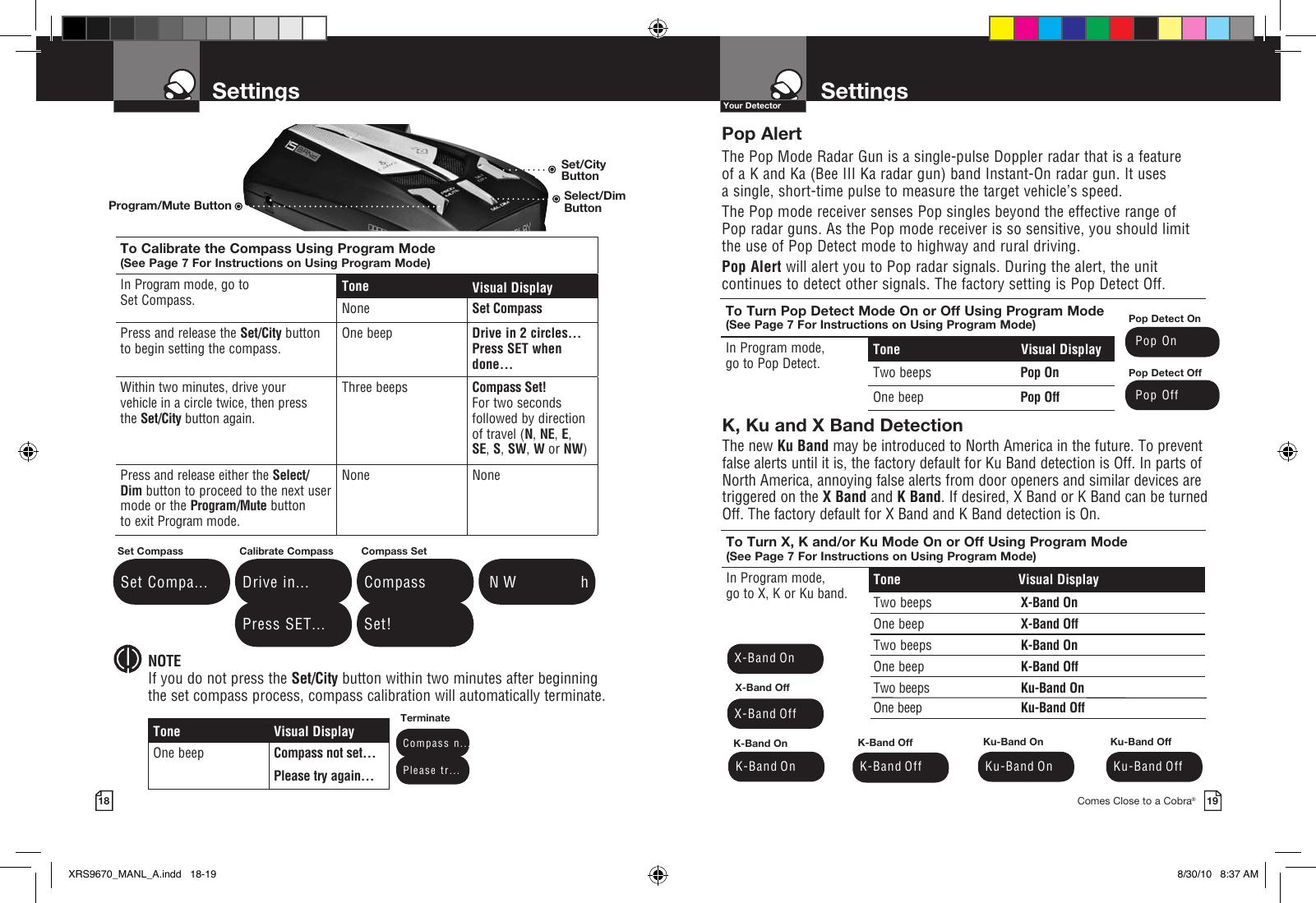 Cobra Electronics Band Xrs 9670 Users Manual