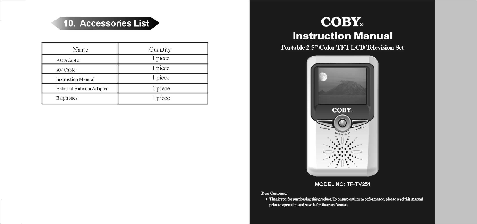coby tftv4025om operating manuals Array - coby tf tv251 users manual rh  usermanual wiki ...