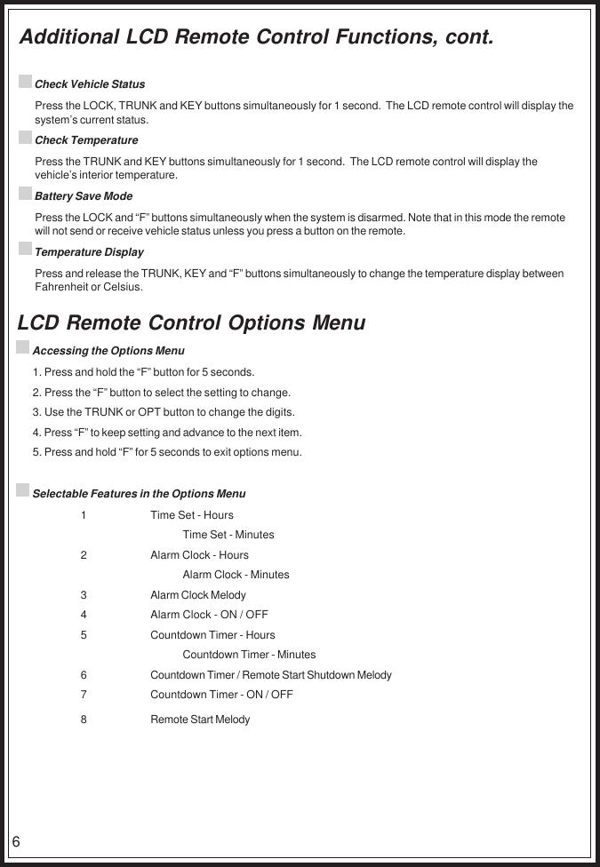 Code Alarm Srt 1600 Users Manual AX901 Owners RevA