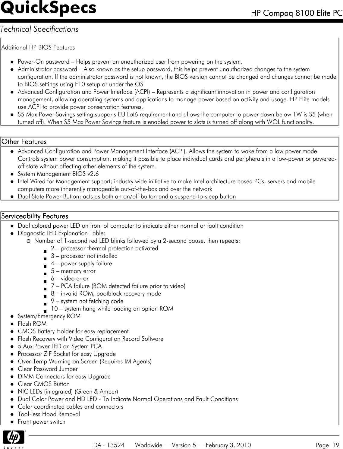 Compaq 8100 Users Manual HP Elite PC