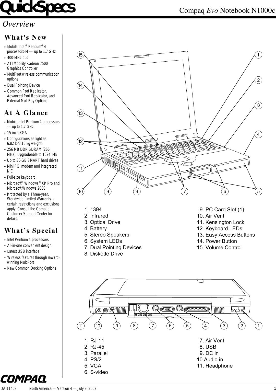 Compaq N1000c User Manual To The 1ba35819 853b 4851 A250 877d346b4d2b Pentium 4 Block Diagram