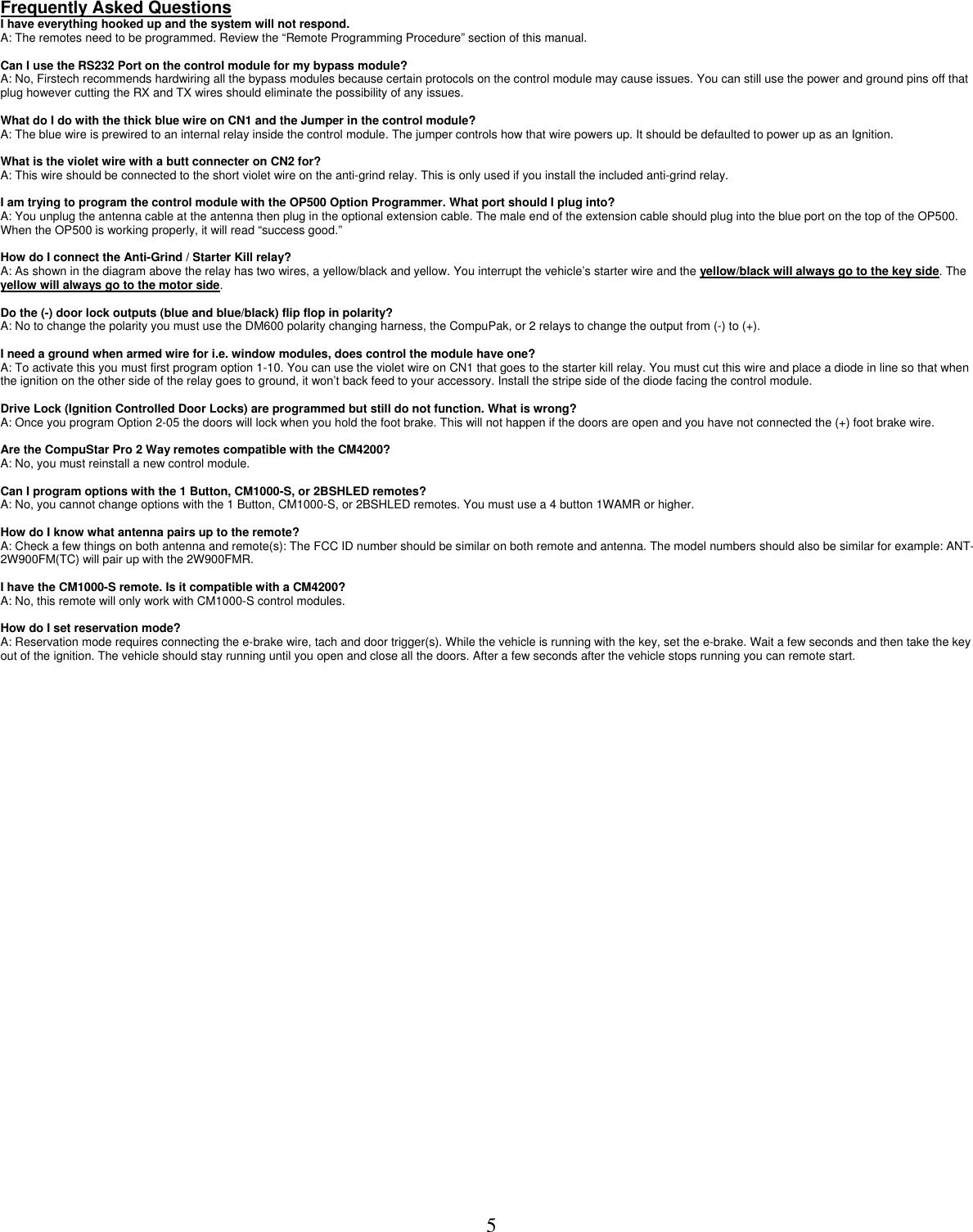 Compustar Cm4200 Users Manual on
