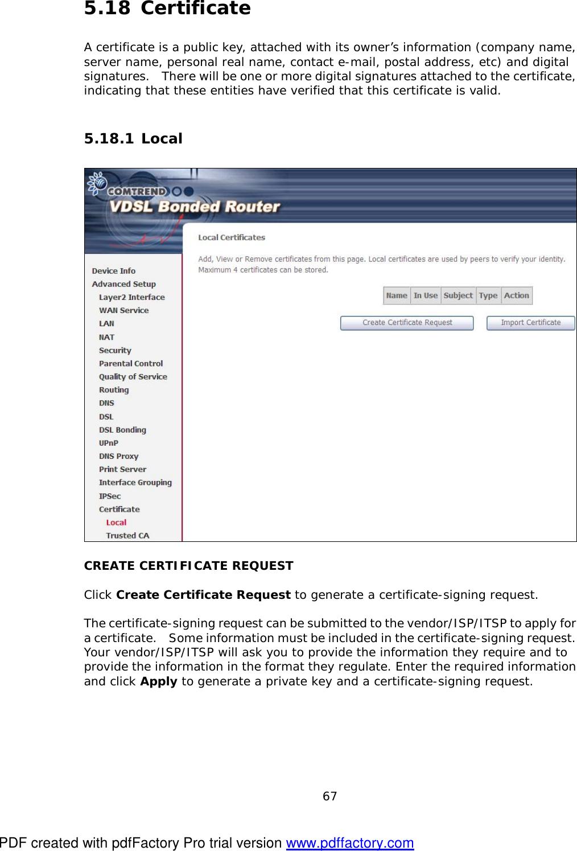 Comtrend nl 3111u avdsl bonded router user manual um nexuslink page 68 of comtrend nl 3111u avdsl bonded router user manual um nexuslink xflitez Choice Image