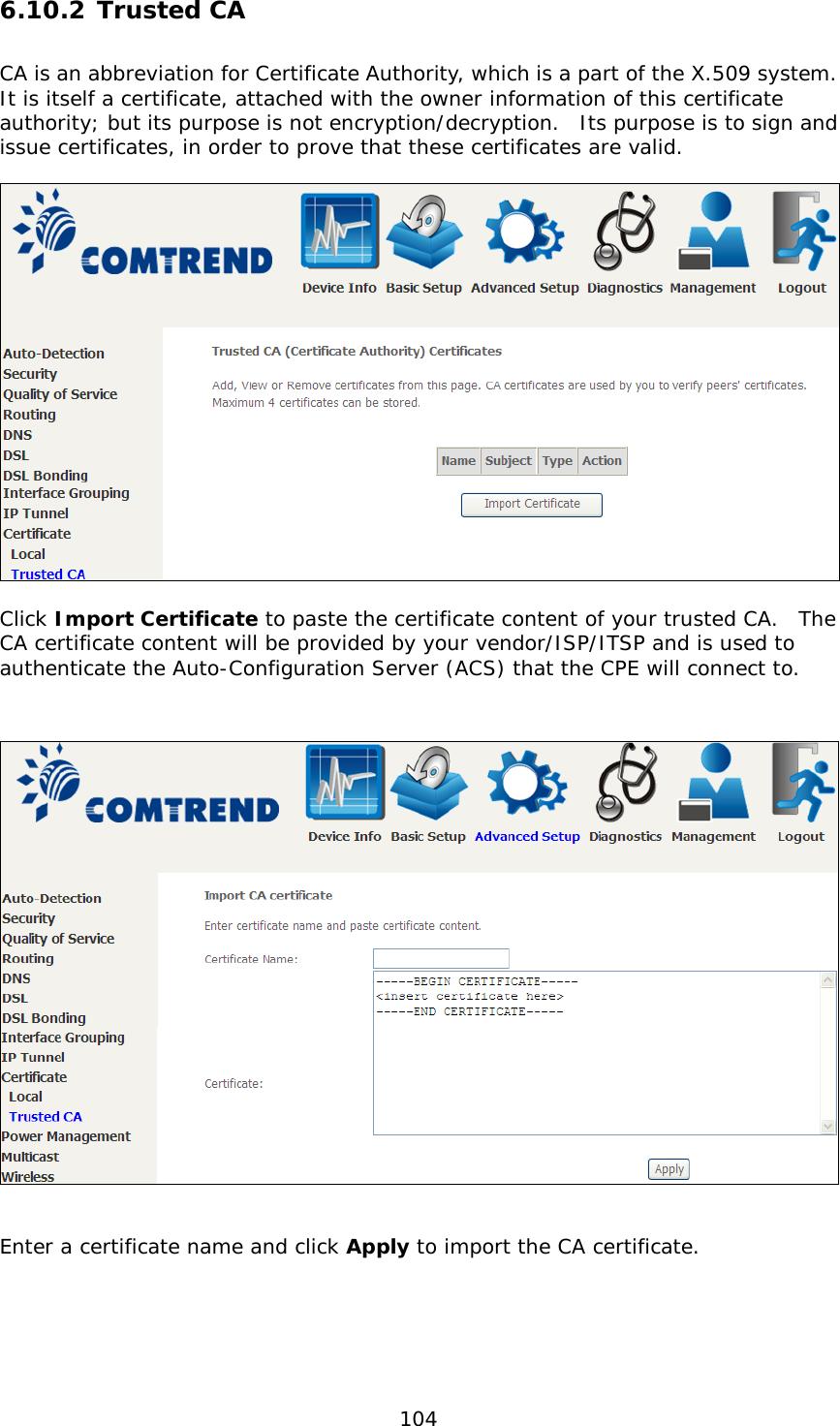 Comtrend Nl 3112u Avdsl Bonded Router User Manual Ct 5374