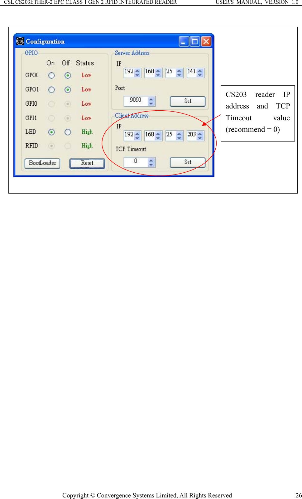 Convergence Systems CS203ETHERC1G2 Class 1 Gen 2 RFID