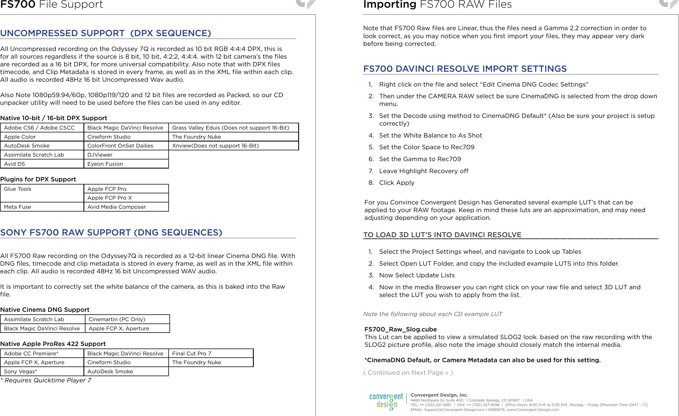 FS700 Setup Guide 04 2014