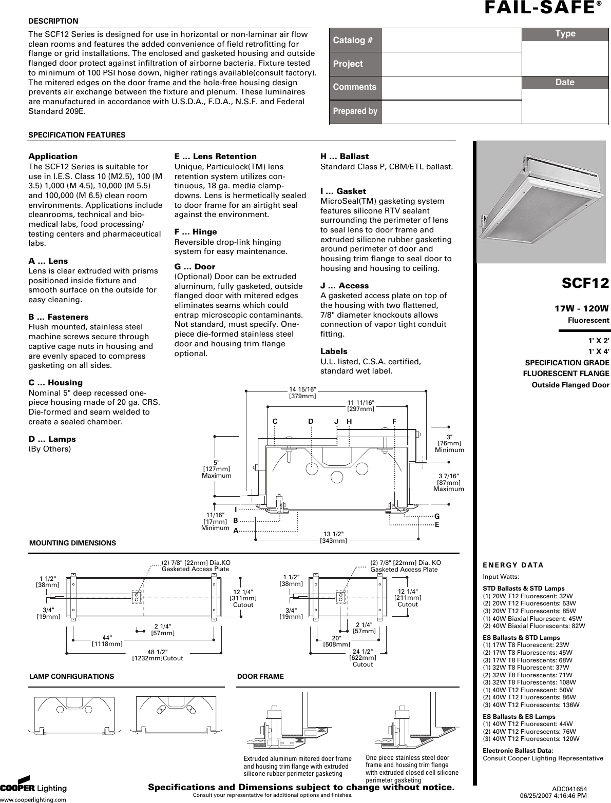 Cooper Lighting Fail Safe Scf12 Users Manual Annotatelumiere