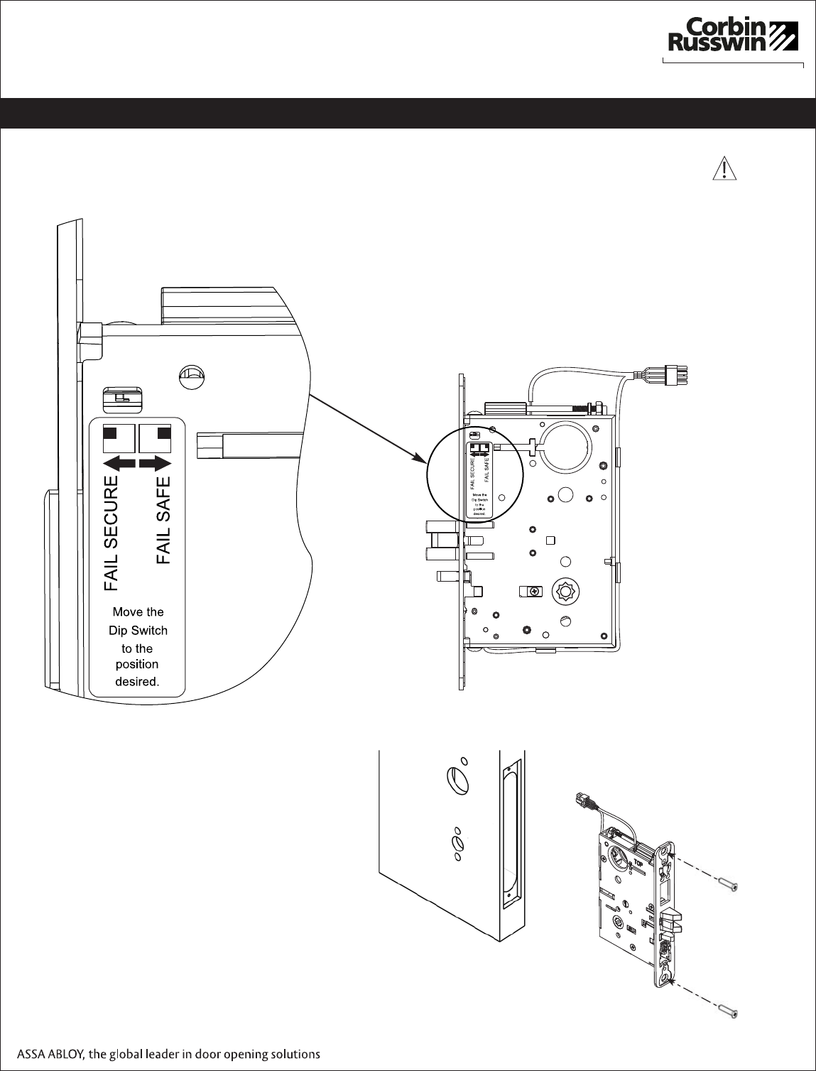 Corbin Russwin Ml20900 Electrified Mortise Lock Installation Wiring Diagram Spdt Dip Switch Configuration Instructions Fm357 Ml209002802 1429optimizedmobile