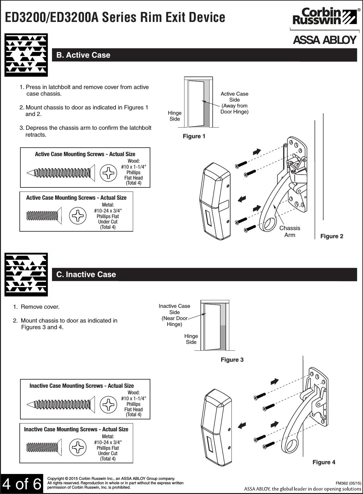 corbin russwin ed3200  ed3200a series rim type exit device