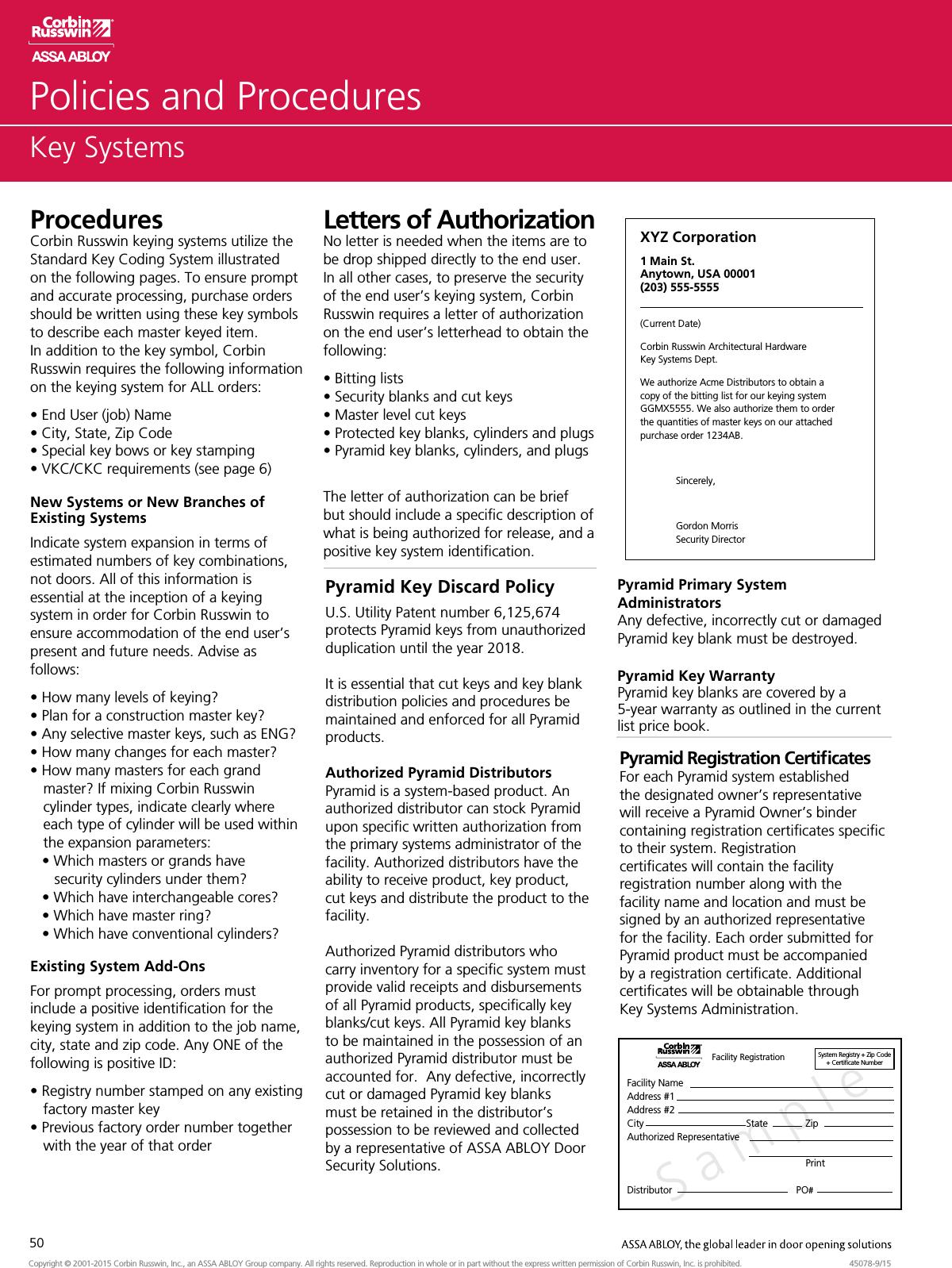 Corbin Russwin Key Systems Aadss1004918