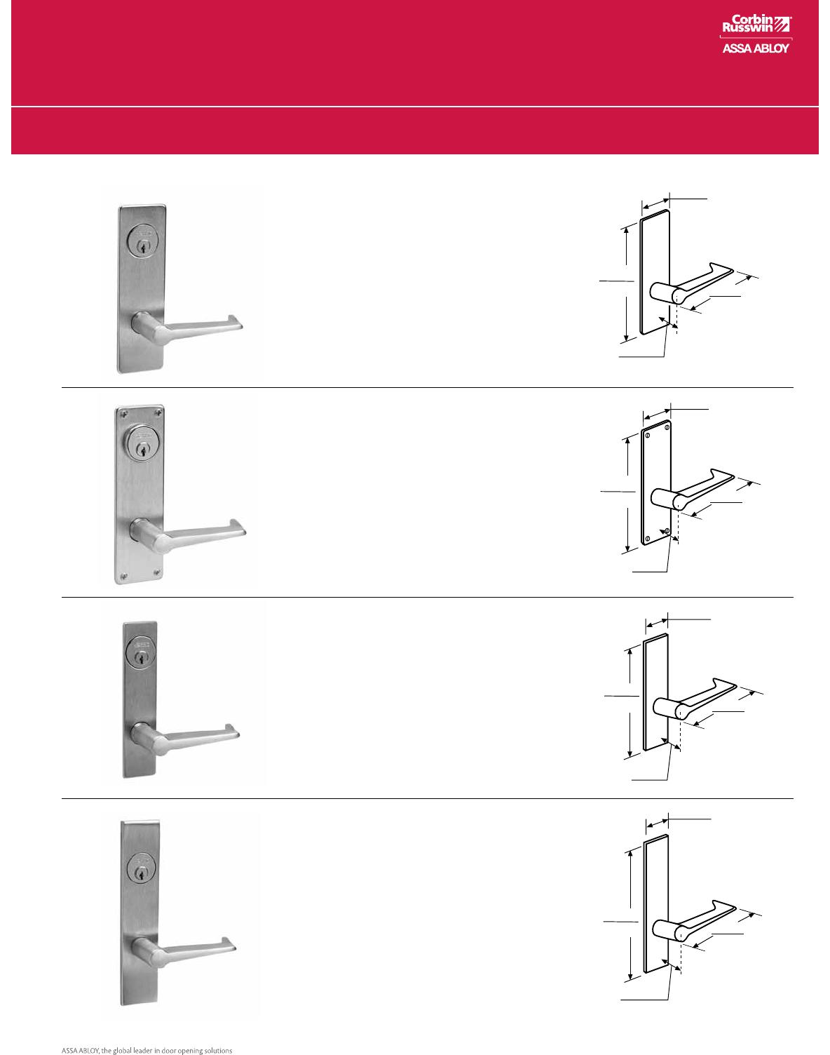 Entrance//Entry//Office Steel; Stainless Steel; Brass Corbin Russwin Architectural Hardware CORBINRUSSWIN ML2048-LWM-626-LC 626 Satin Chrome Lever LWM Lustra