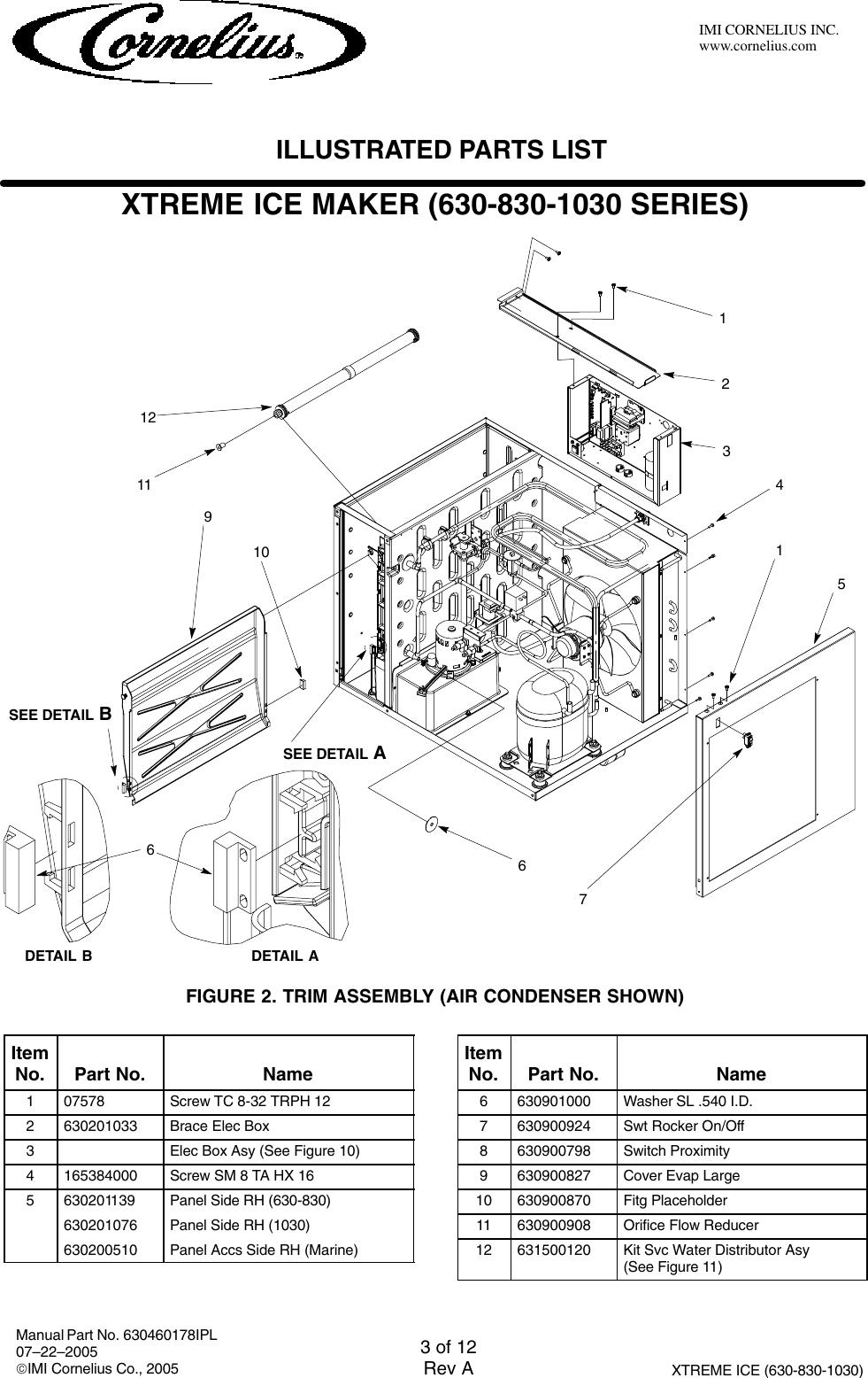 Cornelius 631806001 Users Manual on