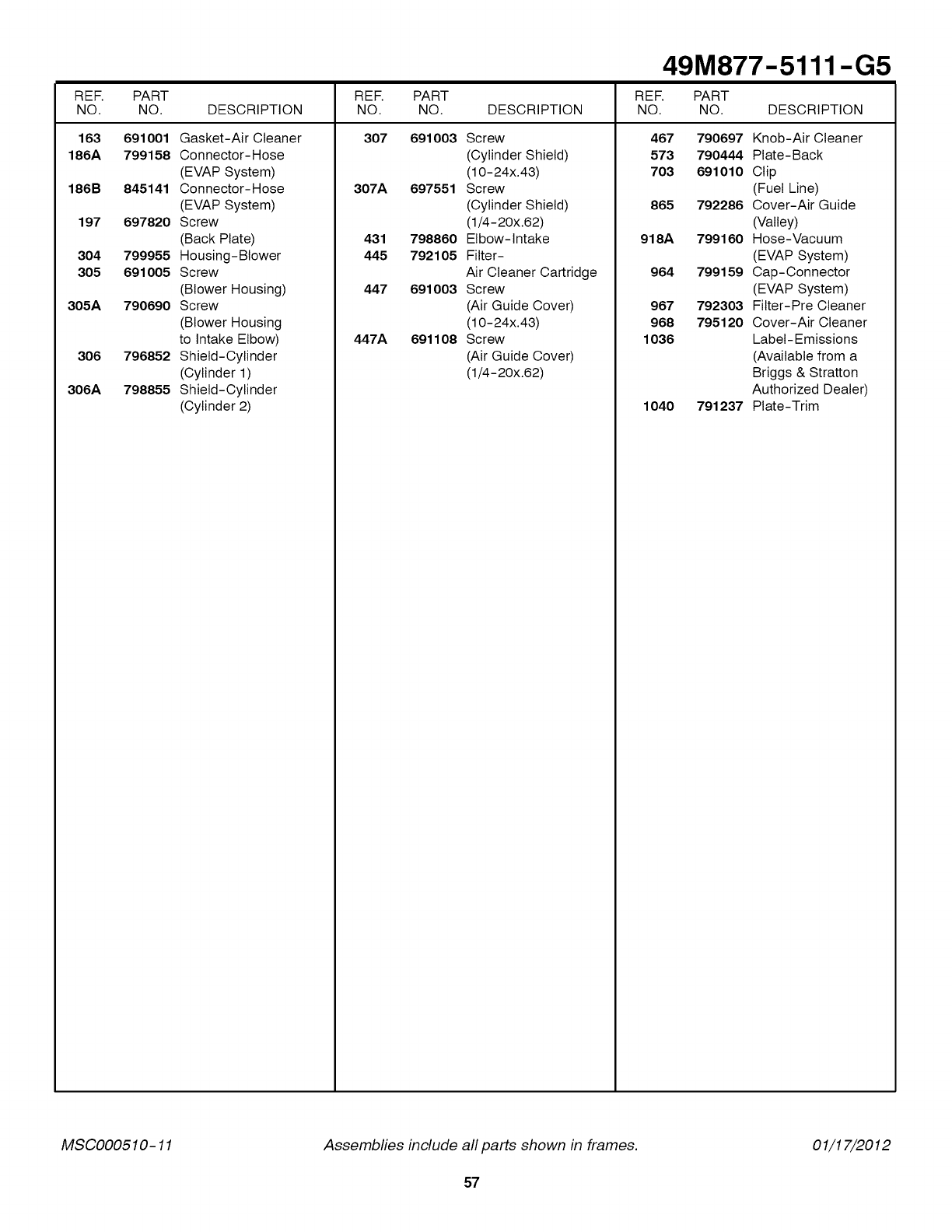 Palomilla with Spring M5/Diameter 15 Index Ga