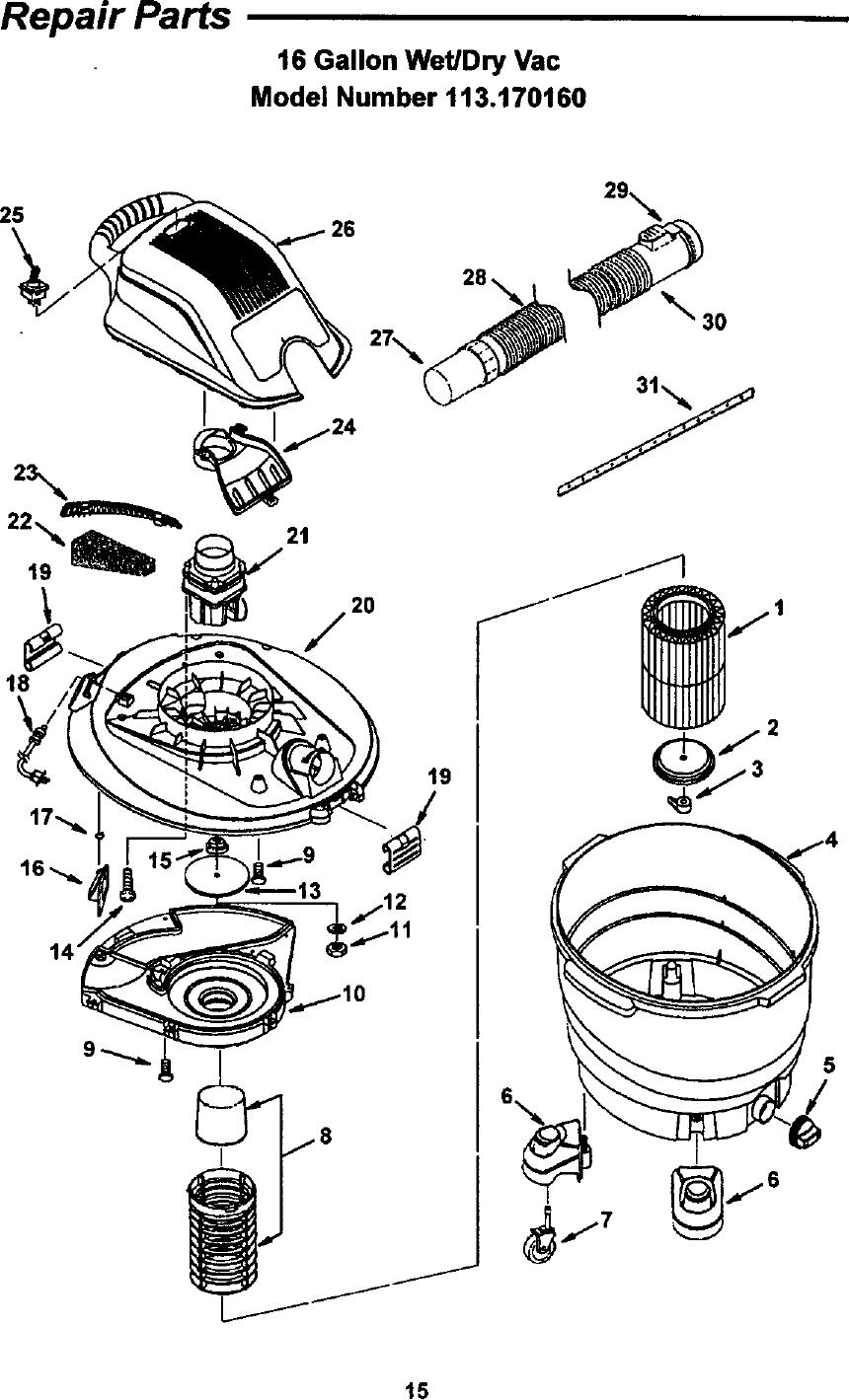 Craftsman 113170160 User Manual 16 GALLON CONVERTIBLE WET