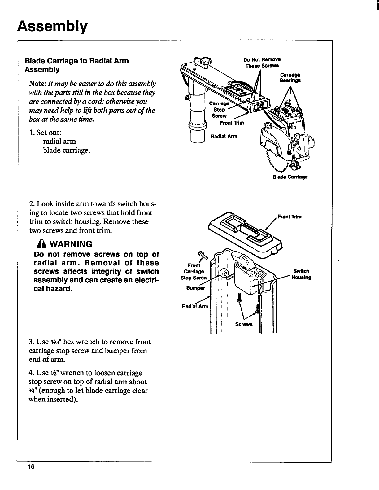Details about  /Sears Craftsman Radial Arm Saw Manual No.113.234700