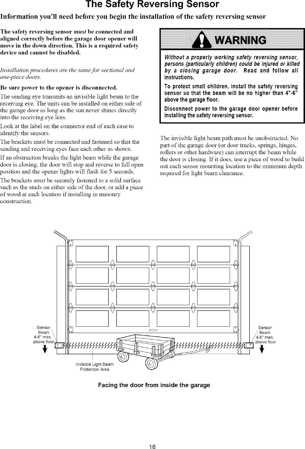 Craftsman 13953663srt User Manual 1 2 Hp Garage Door Opner Manuals