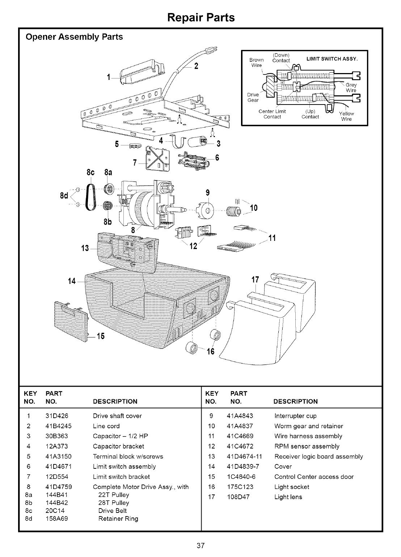 Craftsman 13953663srt User Manual 1  2 Hp Garage Door Opner