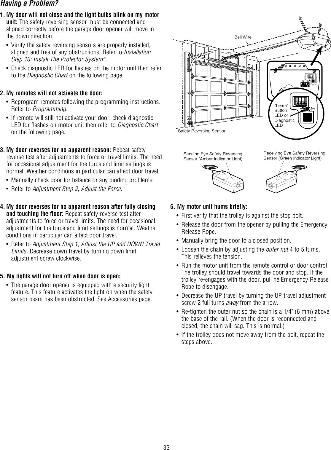 Garage Door Reverses After Closing Ideas Opener Safety Reversing Sensor Wiring Diagram Craftsman 13953901dm User Manual Manuals And Choice Image Design For Home