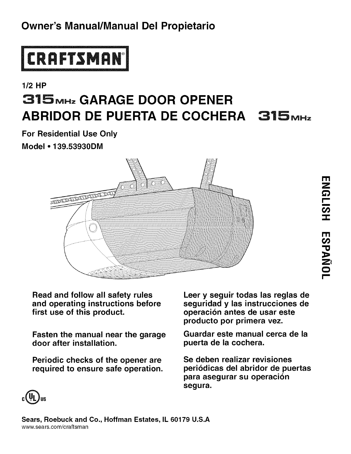 Craftsman 13953930dm User Manual Garage Door Opener Manuals And Wiring Diagram Guides L0803740