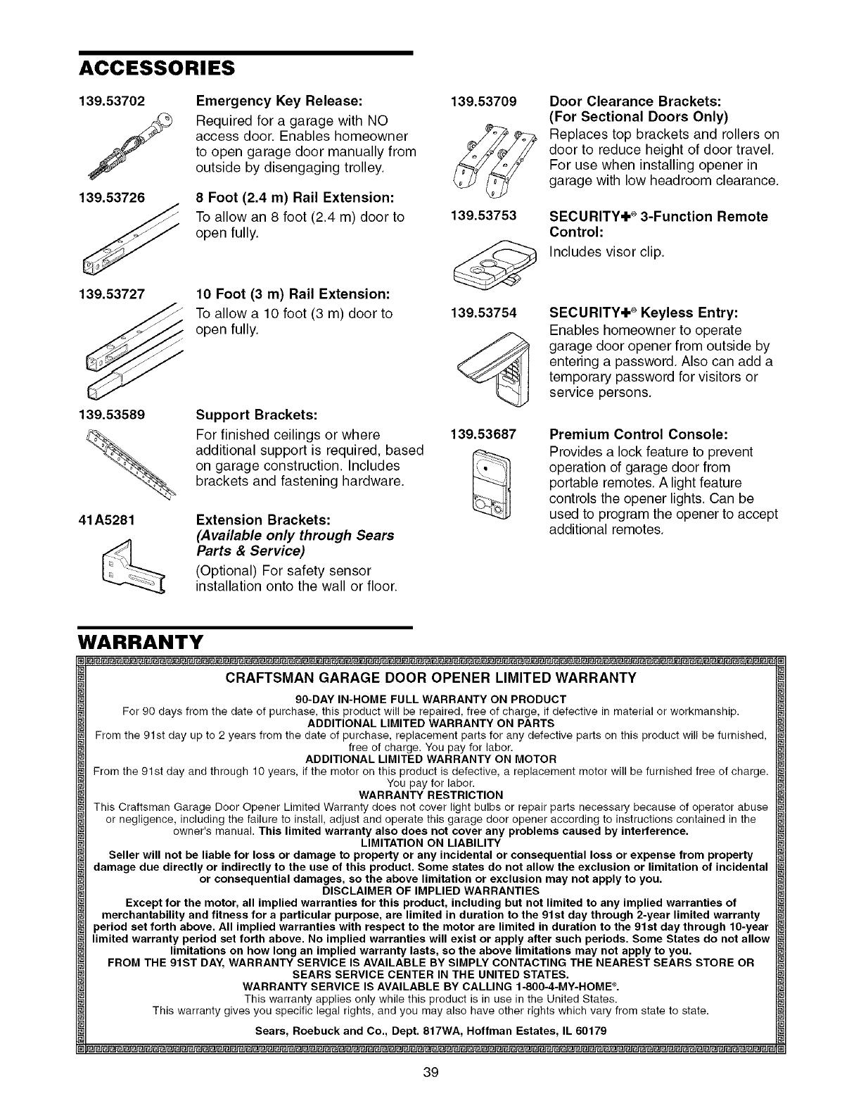 Craftsman 139 53985d Manual Enthusiast Wiring Diagrams