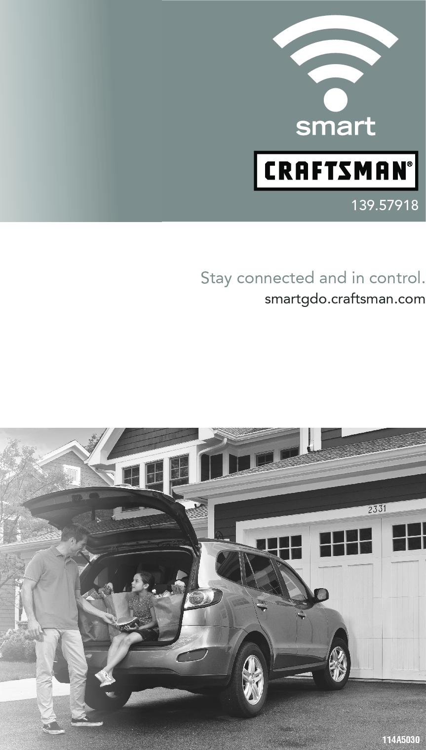 Craftsman 13957918 114a5030 User Manual Garage Door Opener Manuals