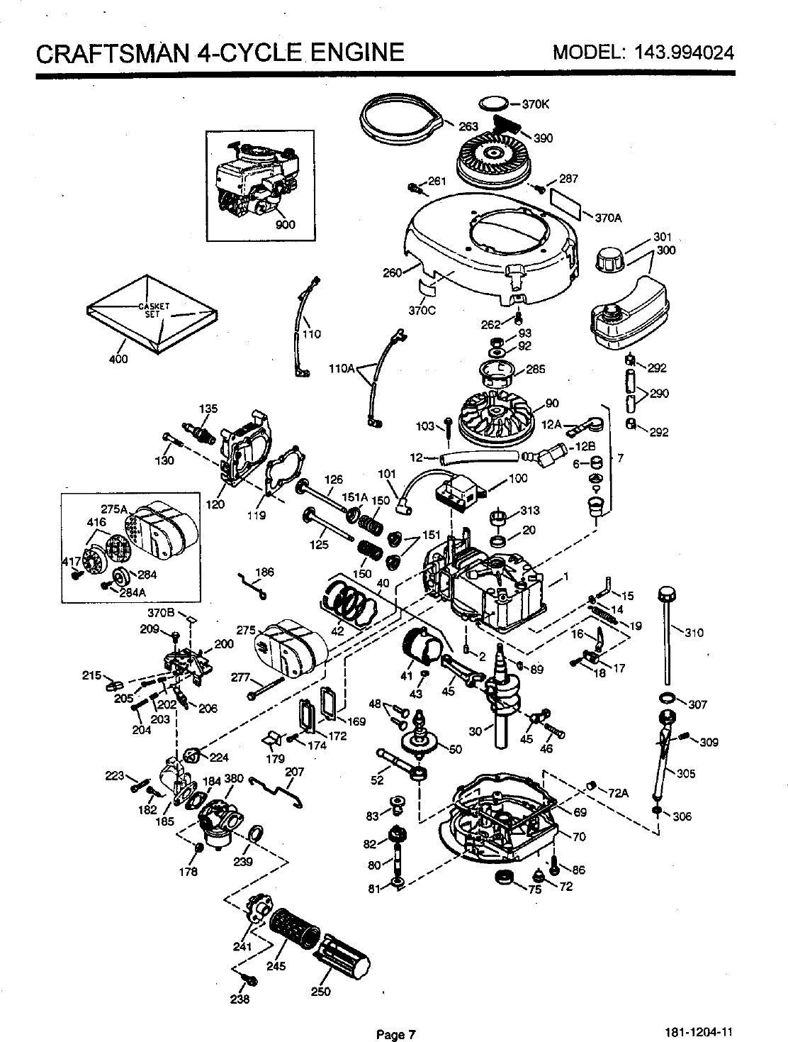 Craftsman 143994024 User Manual 4 Cycle Engine Manuals And Guides Four Diagram Page 8 Of 12