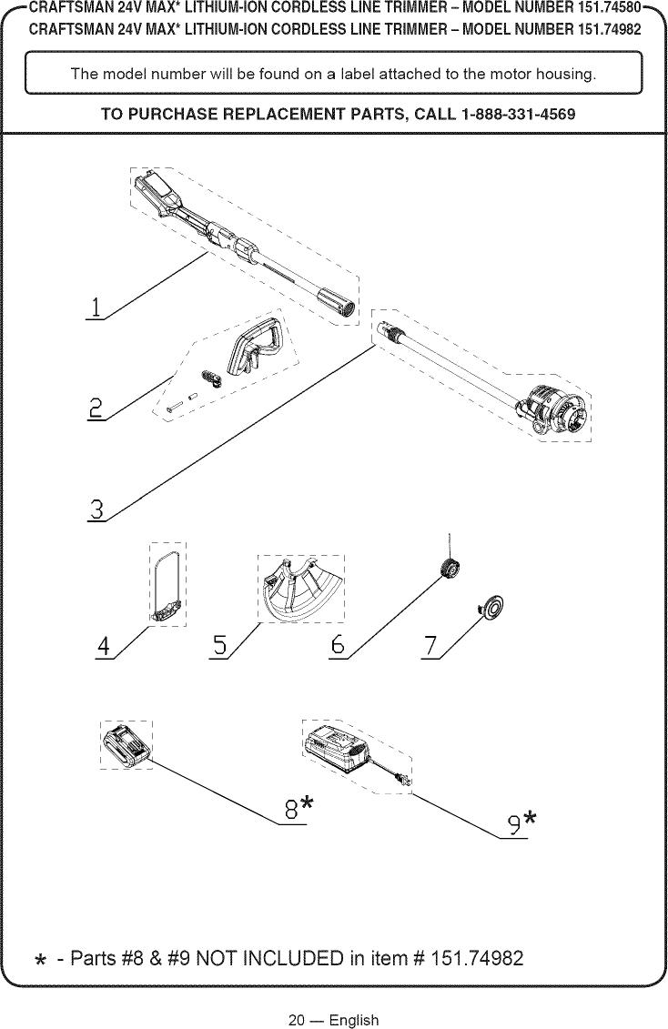 Craftsman 15174580 1602251L User Manual CORDLESS LINE