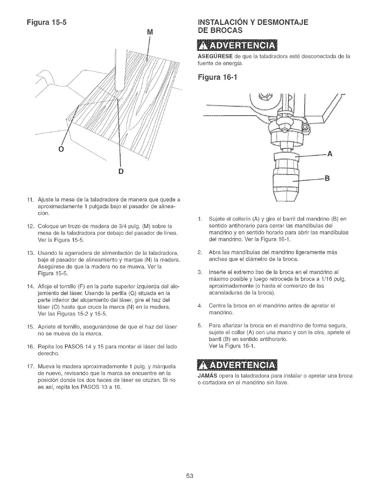 Craftsman 152229000 User Manual Drill Press Manuals And Guides L0520637