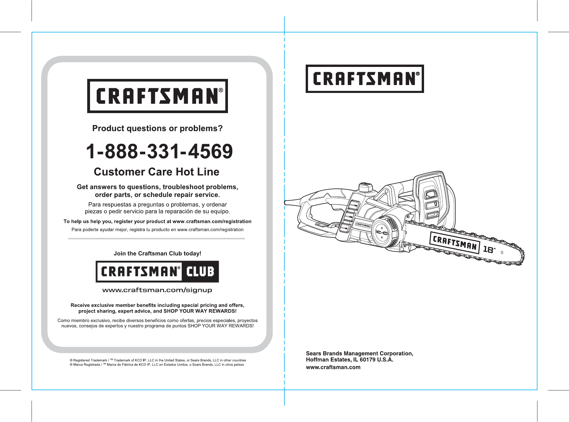 Craftsman 172341201 user manual electric chainsaw manuals and guides operators manual keyboard keysfo Images
