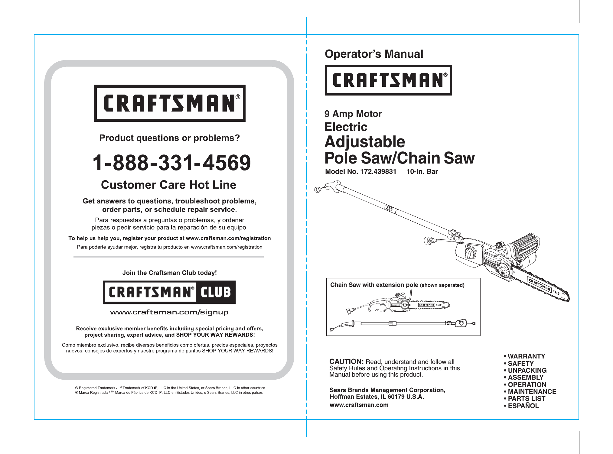 Craftsman 172439831 user manual electric chainsaw manuals and guides craftsman 172439831 user manual electric chainsaw manuals and guides 1705480l greentooth Images