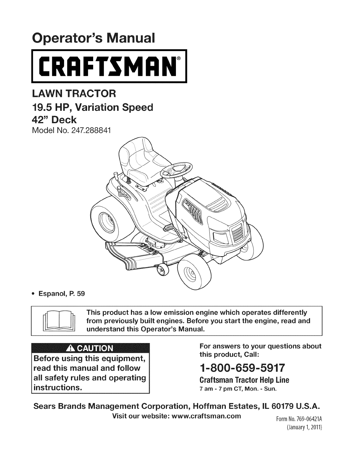 Craftsman 247288841 User Manual Tractor Manuals And Guides 1109233l 48 Mower Deck Belt Diagram Besides Drive Mtd Lawn Perators Irnfrsmrn