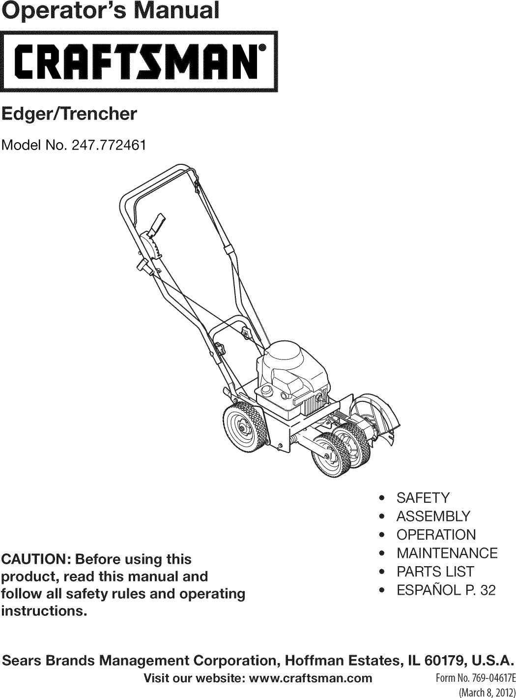 craftsman 247772461 1203555l user manual edger trencher manuals and rh usermanual wiki Craftsman Edger Blades craftsman edger owners manual