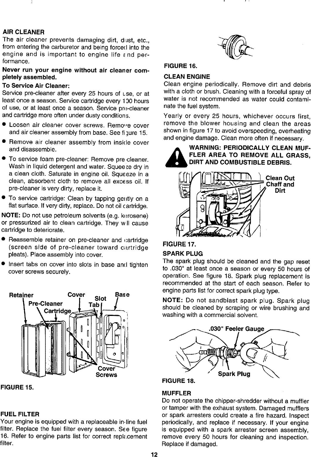 Craftsman 247795950 User Manual CHIPPER SHREDDER Manuals And